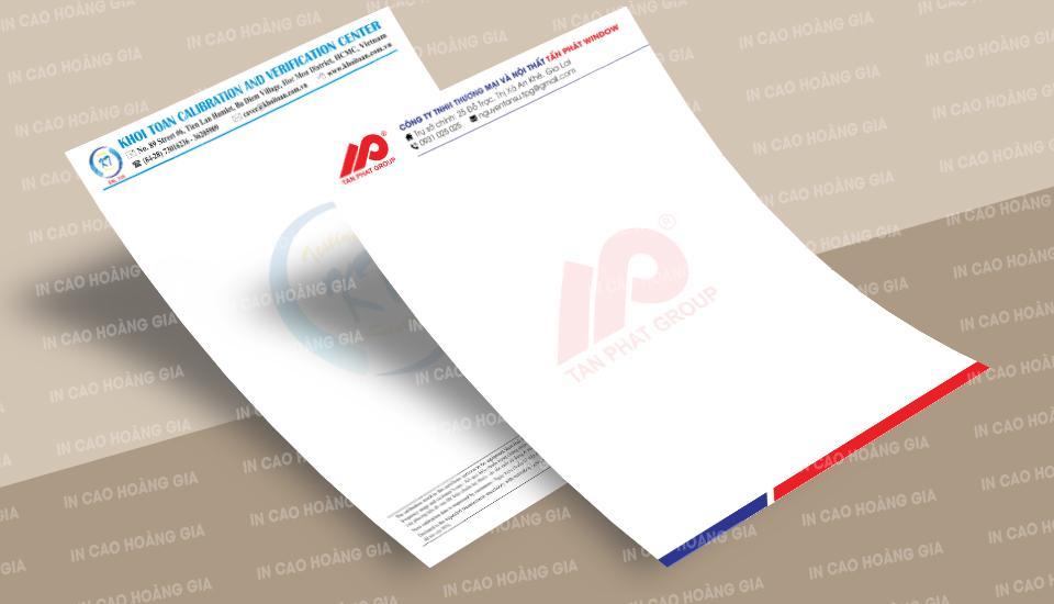 Công ty in giấy tiêu đề giá rẻ