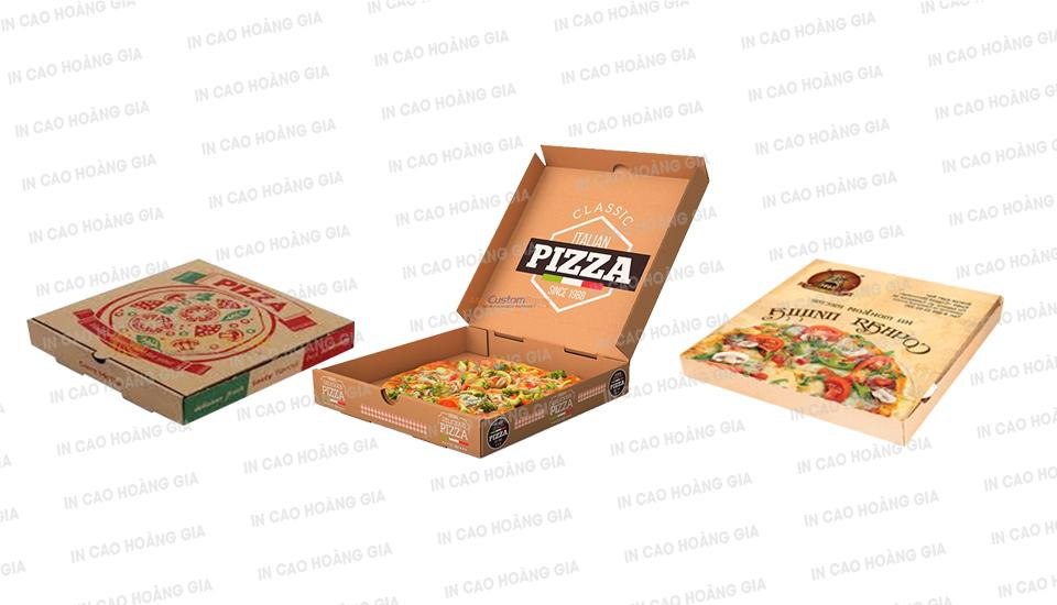 Đặt in hộp bánh đựng pizza